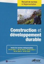 Dernières parutions dans Recueils de normes, Construction et développement durable