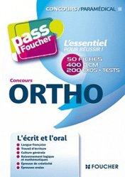 Souvent acheté avec Concours IFSI/AP/Ortho Tests d'aptitude, le Concours Ortho