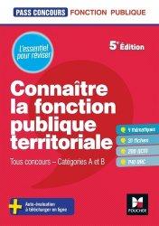 Dernières parutions dans Pass'Concours, Connaître la fonction publique territoriale. Tous concours - Catégories A et B, 5e édition