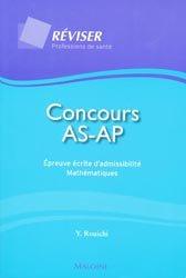 Concours AS-AP Épreuve écrite d'admissibilité Mathématiques