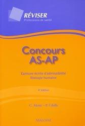 Nouvelle édition Concours AS-AP Épreuve écrite d'admissibilité Biologie humaine