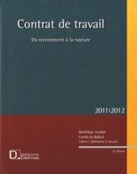 Dernières parutions dans Encyclopédie Delmas, Contrat de travail. Du recrutement à la rupture, Edition 2011-2012, avec 1 CD-ROM