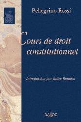 Dernières parutions dans bibliothèque dalloz, Cours de droit constitutionnel