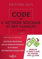 Nouvelle édition Code de l'action sociale et des familles 2015