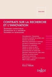 Dernières parutions dans Hors collection, Contrats sur la recherche et l'innovation - Nouveauté