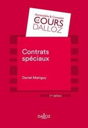 Dernières parutions dans Cours Dalloz - série Droit privé, Contrats spéciaux. 11e édition