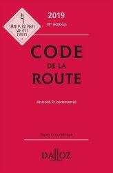 Dernières parutions dans Codes Dalloz Professionnels, Code de la route 2019, annoté et commenté
