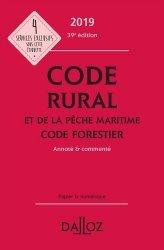 Dernières parutions sur Aquaculture - Pêche industrielle, Code rural et de la pêche maritime code forestier 2019