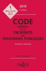 Dernières parutions sur Code public, Code Général de la propriété des personnes publiques. Edition 2019