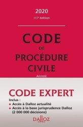 Dernières parutions sur Procédure civile, Code de procédure civile. Edition 2020