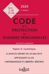 Dernières parutions dans Codes Dalloz Professionnels, Code de la protection des données personnelles 2019