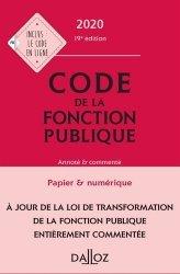 Dernières parutions sur Code public, Code de la fonction publique. Annoté & commenté, Edition 2020