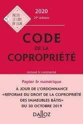 Dernières parutions sur Copropriété, Code de la copropriété. Annoté & commenté, Edition 2020