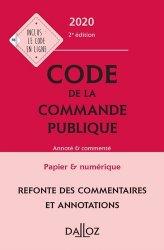 Dernières parutions dans Codes Dalloz Professionnels, Code de la commande publique