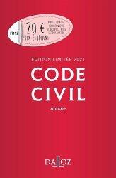 Dernières parutions dans Codes Dalloz, Code civil annoté. Edition 2021