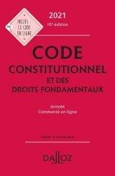Dernières parutions sur Droit constitutionnel, Code constitutionnel et des droits fondamentaux