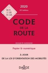 Dernières parutions sur Auto - Moto - Vélo, Code de la route 2020, annoté et commenté