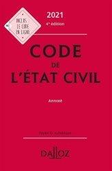 Dernières parutions dans Codes Dalloz, Code de l'état civil annoté