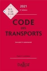 Dernières parutions sur Droit des transports, Code des transports