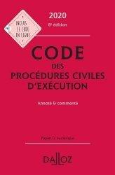 Dernières parutions sur Procédure civile, Code des procédures civiles d'exécution. Annoté et commenté, Edition 2020