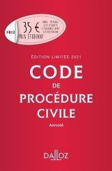 Dernières parutions dans Codes Dalloz, Code de procédure civile annotée. Edition 2021