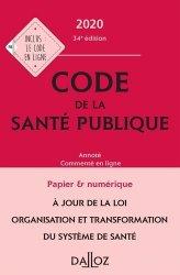 Dernières parutions dans Codes Dalloz Professionnels, Code de la santé publique 2020
