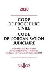Dernières parutions sur Procédure civile, Code de procédure civile. Code de l'organisation judiciaire, Edition 2020