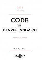 Dernières parutions sur Droit de l'environnement, Code de l'environnement