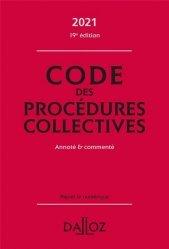 Dernières parutions dans Codes Dalloz, Code des procédures collectives