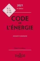 Nouvelle édition Code de l'énergie 2021