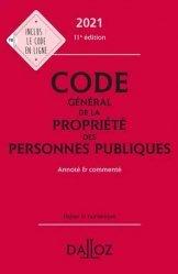 Dernières parutions sur Histoire du droit, Code général de la propriété des personnes publiques 2021