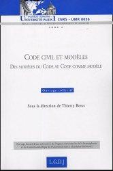 Dernières parutions dans Bibliothèque Institut Tunc, Code civil et modèles. Des modèles du Code au Code comme modèle