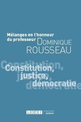 Dernières parutions sur Droit constitutionnel, Constitution, justice, démocratie . Mélanges en l'honneur de Dominique Rousseau, Edition 2020