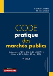 Nouvelle édition Code pratique des marchés publics