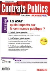Dernières parutions sur Marchés publics, Contrats publics n°217, février 2021