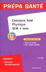 Souvent acheté avec Les tests psychotechniques, le Concours kiné Physique QCM + exos