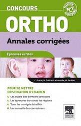 Nouvelle édition Concours Ortho épreuves écrites