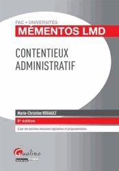 Dernières parutions dans Fac Universités : Mémentos LMD, Contentieux administratif. 5e édition