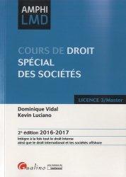 Dernières parutions dans Amphi LMD, Cours de droit spécial des sociétés. 2e édition