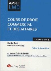 Dernières parutions dans Amphi LMD, Cours de droit commercial et des affaires. Edition 2018-2019