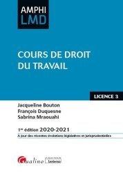 Dernières parutions sur Droit du travail et de l'emploi, Cours de droit du travail