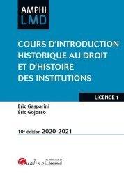 Nouvelle édition Cours d'introduction historique au droit et d'histoire des institutions. Institutions du Haut Moyen Age (V-Xe siècle), 10e édition
