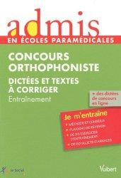 Souvent acheté avec Français Orthophonie 2014, le Concours orthophoniste