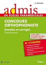 Souvent acheté avec Concours orthophoniste  -  tests d'aptitude verbale, le Concours Orthophoniste
