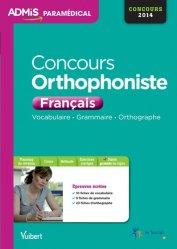 Souvent acheté avec Concours orthophoniste 2015, le Concours Orthophoniste - Français