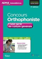 Souvent acheté avec Concours orthophoniste 2015, le Concours orthophoniste