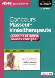 Dernières parutions sur Concours d'entrée kiné, Concours Masseur-kinésithérapeute