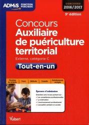 Nouvelle édition Concours Auxiliaire de puericulture territorial