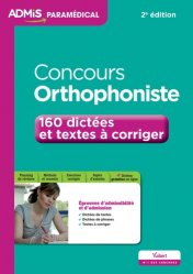 Souvent acheté avec Concours orthophonie : français 2017, le Concours Orthophoniste - 160 dictées et textes à corriger - Entraînement