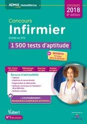 Dernières parutions sur Tests d'aptitude, Concours Infirmier - Entrée en IFSI - 1 500 tests d'aptitude